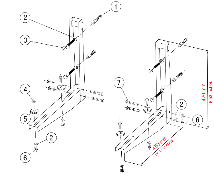 Outside Unit L Mounting Bracket For Ductless Systems
