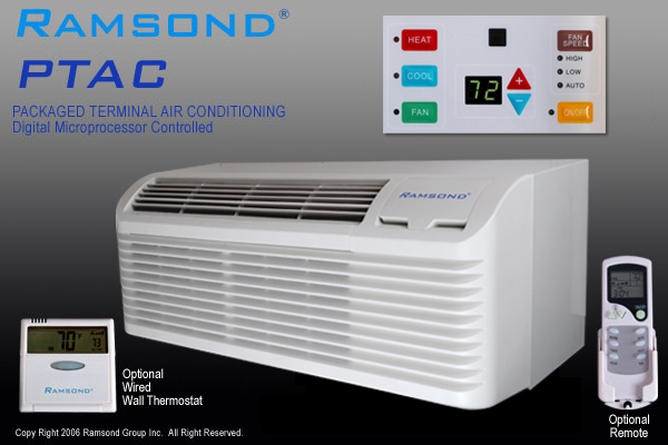 Ramsond 12000 Btu Ptac With 5000 W Electric Heater
