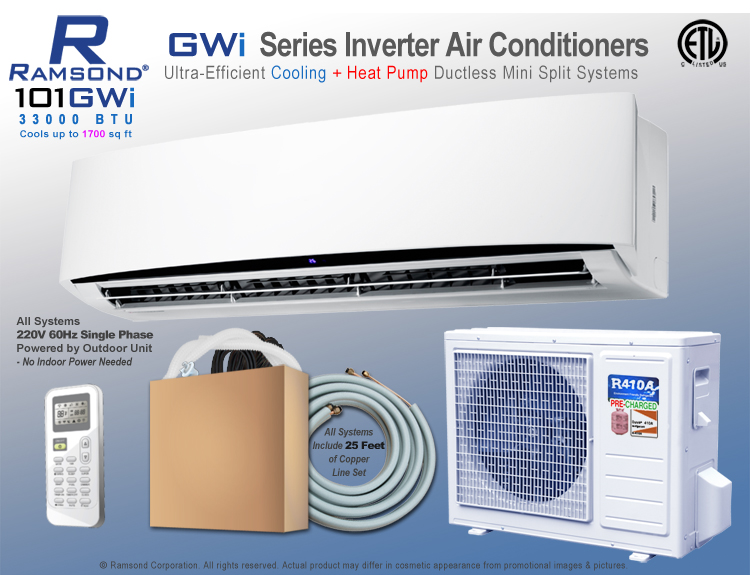 ramsond 101gwi inverter ductless mini split ac heat pump ramsond rh ramsond com LG Aire Acondicionado Portatil Mirage Aire Acondicionado