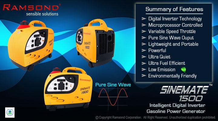 Sinemate 1500 Inverter Generator Features