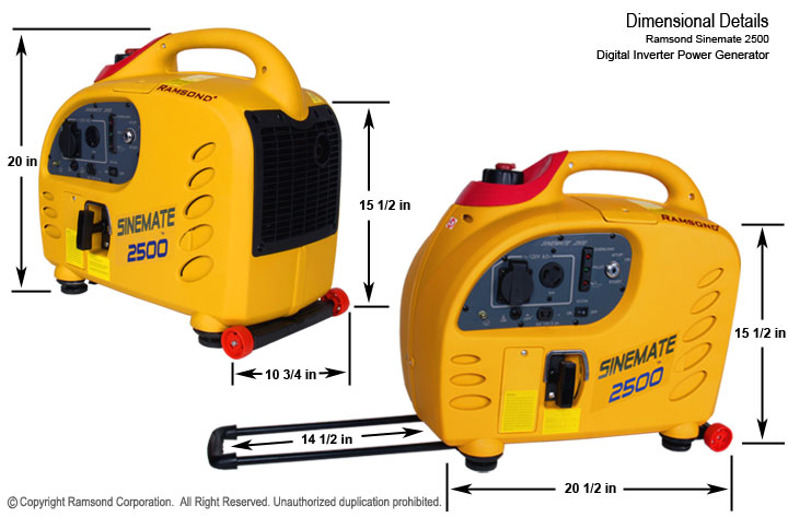 Sinemate 2500 Digital inverter Gasoline Generator