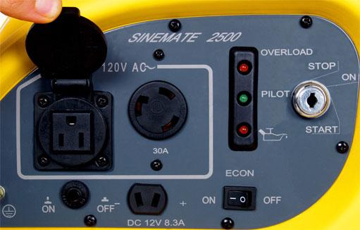 Sinemate 2500 Control Panel