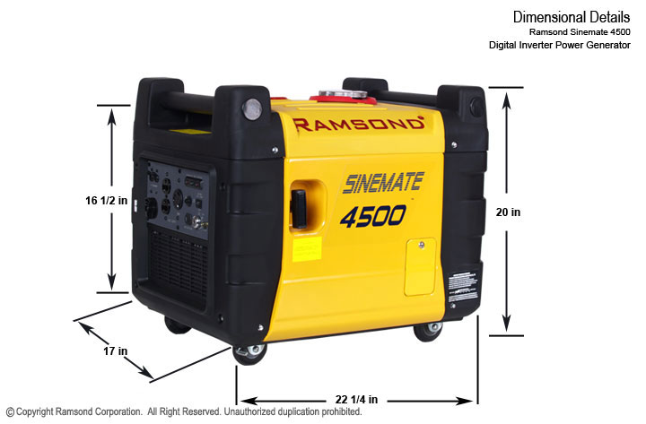 Sinemate 4500 Digital inverter Gasoline Generator