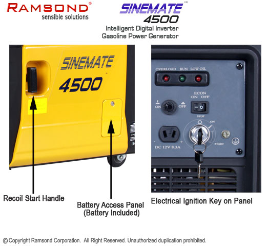 Sinemate 4500 electrical and recoil start