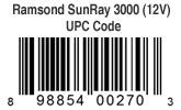 Ramsond SunRay 3000 Pure Sine Wave Inverter 12V UPC Code