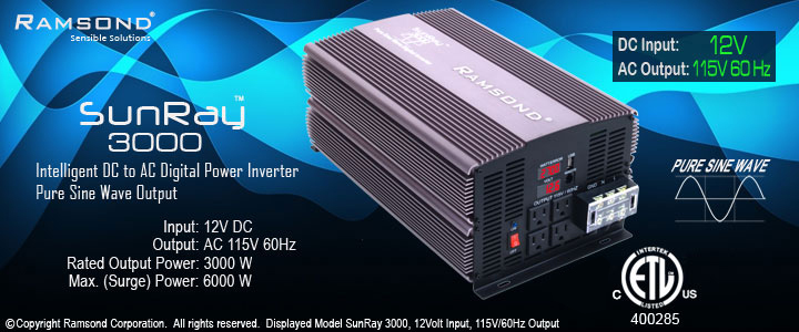 Sunray 3000 watt Pure Sine Wave Inverter Header