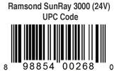 Ramsond SunRay 3000 Pure Sine Wave Inverter 24V UPC Code